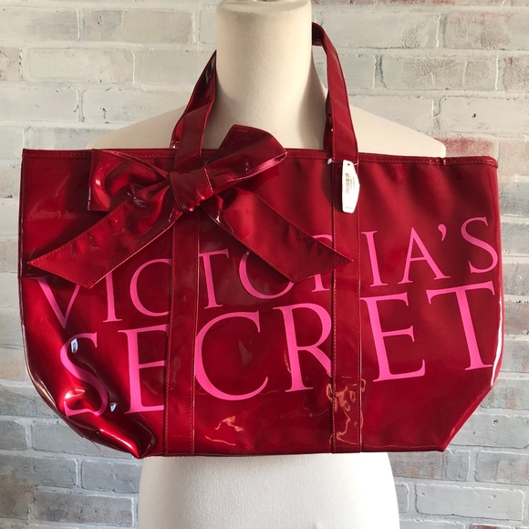Victoria's Secret Handbags - Victoria Secret Platinum Pleather Large Tote Bag